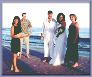 Barefoot Beach Weddings coordinated by Glory Williams at A Perfect Beginning!
